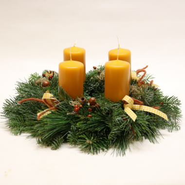 Advent Wreath - diameter 30cm - Candles 7cm x 6cm