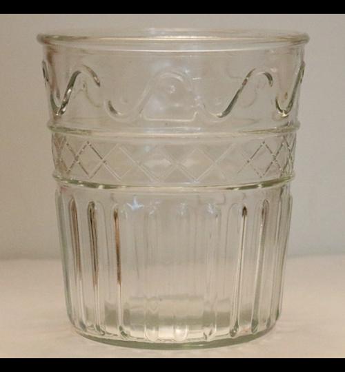 Glasvase mit Muster - hoch 15cm - breit 13,5cm