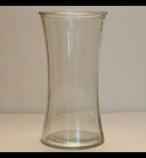 Glasvase mit Teille - hoch 20cm - breit 10,5cm