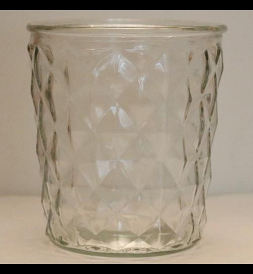 Glasvase wellig- hoch 15cm - breit 13,5cm