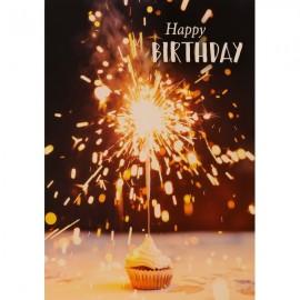 Happy Birthday mit Sprinkler (12 cm x 17 cm)