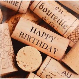 Happy Birthday in Kork (12 cm x 12 cm)