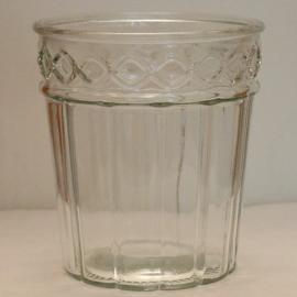 Glasvase mit 2 Mustern - hoch 15cm - breit 13,5cm
