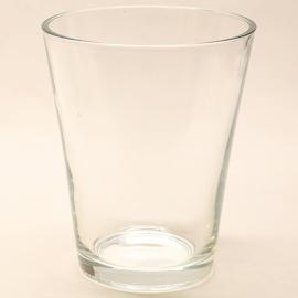 Glasvase - Hoch 17cm - oberer Durchmesser 14cm - unterer Durchmesser 9cm